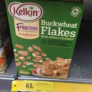 Kelkin breakfast buckwheat flakes, 375g, reduced from £2.51 to 63p instore at Morrisons
