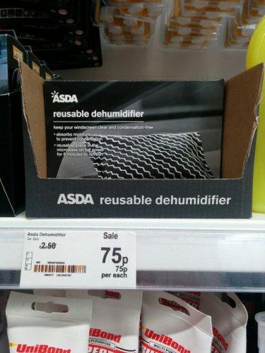 Asda Reusable Dehumidifier 75p instore
