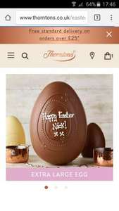 Thorntons marvellously magnificent easter egg 650g £13.50 / £17.45 delivered