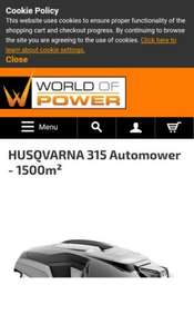 Husqvarna 315 Automower - World of Power - £1100