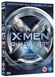 X-Men Quadrilogy (4 FILMS!!!) - Used DVD Boxset. Free Delivery 95p (Music Magpie)