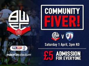 BWFC vs Chesterfield Just £5!