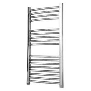 FLOMASTA CURVED TOWEL RADIATOR CHROME 900 X 450MM @ SCREWFIX - £34.99