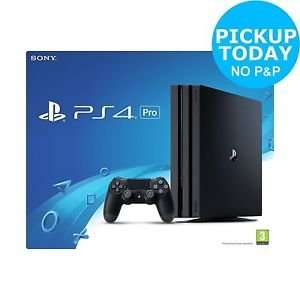 Playstation 4 Pro console £318.95 delivered (£315 Click and Collect) from Argos eBay with code C10ARGOS (Slim PS4 is £170)