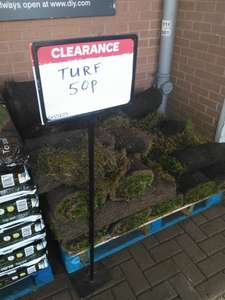 50p for a metre of turf instore @ B & Q (Bolton)
