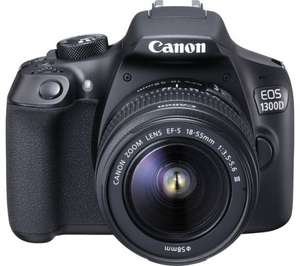 Canon EOS 1300D DSLR and 18-55mm DC Lens £269.10 + free click and collect with Code: C10ARGOS @ argos ebay