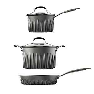 LAKELAND 3 PIECE FLARE® PAN SET + free Flare 20 cm frying pan (worth £24) - £84.99