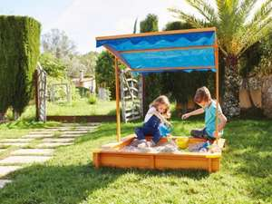 Junior Sandpit with roof available in store from 30th March £34.99 or £29.99 if you have a voucher @ Lidl