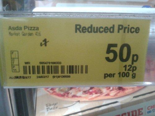 Market Garden Vegetarian Pizza 50p @ Asda Instore