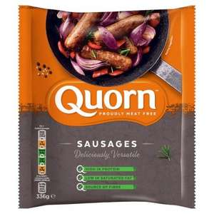 Quorn (8) Meat Free Sausages 336g Half Price was £2.00 now £1.00 @ Tesco