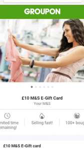 Your M&S: £6 for a £10 E-Gift Card (invitation only) Groupon