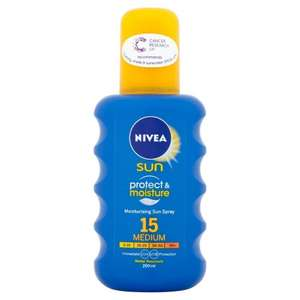 Nivea Sun Immediate Protection Moisturising Sun Spray SPF15/20/30 200 ml £4.55 @ Amazon subscribe & save
