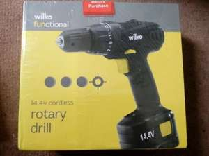 WILKO 14.4V CORDLESS DRILL, REDUCED TO CLEAR £7.25 @ wilko instore