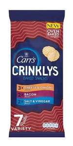 Carr's Crinklys Variety Pack Cracker Crisps (7 Pack X3) - 99p @ buyology
