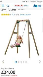 Wooden Plum single swing - Tesco Direct - £27.00 delivered