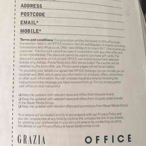 25% off office shoes inside Grazia Magazine