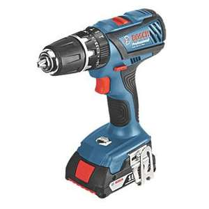 Bosch Cordless 18V 1.5Ah Li-Ion Combi Drill 3 Batteries - £65 (with code CLUBQZH28) at B&Q