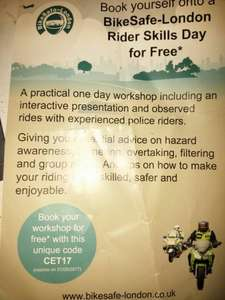 MotorBike safe London free course