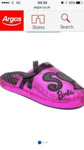 Barbie slippers size 8 9 10 £1.99 @ argos free c&c