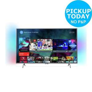Philips 49PUS6401 49 Inch 4K Ultra HD with HDR Freeview Ambilight Smart Android LED TV  £386.10  Argos eBay Store with code