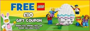 Free £10 Lego Gift Coupon When You spend £40.00 Or More on Lego At Toys R Us 29/03/2017 - 27/04/2017