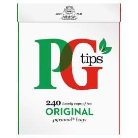 PG Tips 240 Pyramid Tea Bags £3.00 (43.1p per 100g) reduced from £5.99 (Rollback Deal) @ Asda