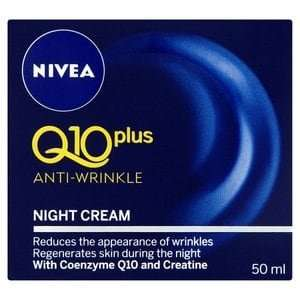 Nivea Q10 Plus Anti-Wrinkle Night Cream 50ml better than half price and 3 for 2 (beautycard members). 3 for £8.98 @ Superdrug