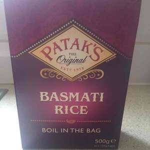 PATAKS basmati boil in bag rice x 4 bags - 99p instore @ Home Bargains