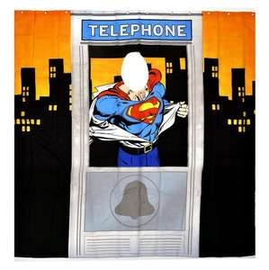Superman telephone box shower curtain for £9.09 @ Amazon (sold by Real Merch / free delivery)