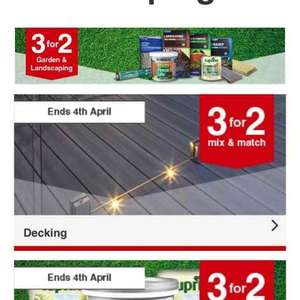 3 for 2 on garden and landscaping at Wickes