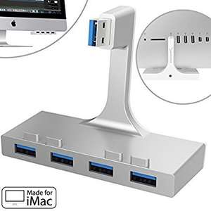 Sabrent 4-Port USB 3.0 Hub For iMac Slim Unibody 2012 or later (HB-IMCU) - £14.99 delivered - Sold by Store4PC-Europe and Fulfilled by Amazon
