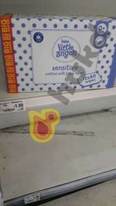 Asda Little Angels Baby Wipes singles (1x80) 19p & 12x80 multipacks £1.98