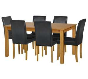 Ashdon Solid Wood Table & 6 Mid Back Chairs was £404.99 now £197.94 with code @ Argos