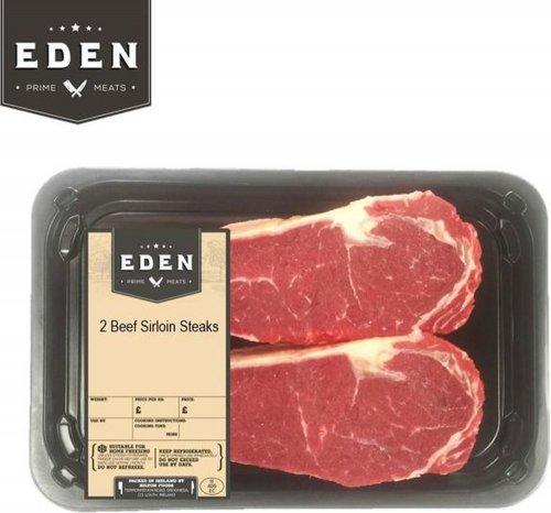 Eden Beef Sirloin Steaks (2 per pack - 476g) was £9.99 a pack now £7.49 a pack @ Ocado