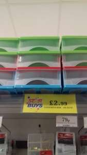 3 drawer storage box 25 x 18 x 25cm £2.99 instore @ home bargains