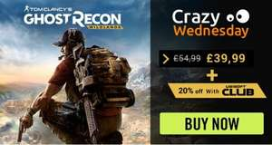 Ghost recon Wildlands - xbox one as low as £32 using Ubisoft deal, and 20% extra in exchange for 100 ubi points...