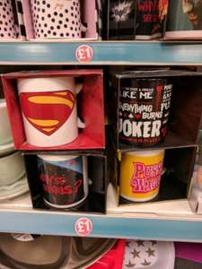 Official Movie Mugs For Batman, Superman, Kill Bill and more only £1 at Poundland