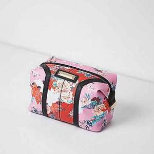 River Island floral make up bag now £7 @ river island online free c&c also (free express delivery with code over £10 spend 24hrs only)