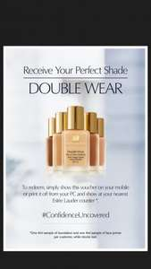 free estee lauder double wear foundation and primer sample