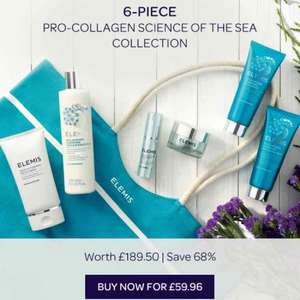 elemis set, value of £189.50 for £59.96 + £5.95 p&p available to pre-order on qvc