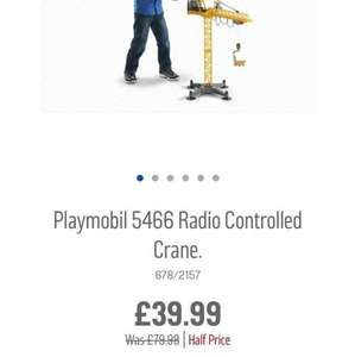 playmobil radio controlled crane Argos half price - £39.99