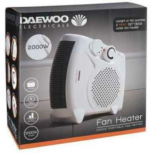 Daewoo electricals 2kw fan heater just £2 @ poundland