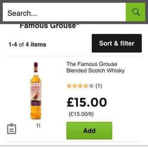 famous grouse whisky £15 a litre in Asda