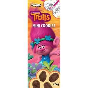 Trolls maxies biscuits 275g box. Priced at £1.00 scanning at 10p. @ b&m Hayes