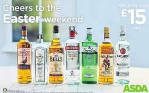Selected Spirits 1L - £15 - ASDA - Gin, Bacardi, Whisky, Vodka, Rum - List in Deal Description