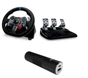 LOGITECH G29 / G920 Driving Force Racing Wheel, Pedals & Portable Power Bank Bundles now £149.99 @ Currys