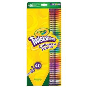 40 Pack Crayola Twistable Pencils Half Price £5 @ Tesco
