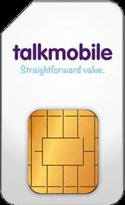 Talk Mobile 12GB 5000mins 5000 texts £12/month (£144 total) & poss £45 TCB/Quidco