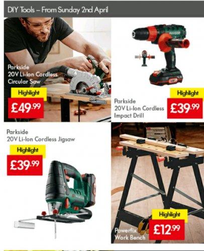 20 volt power tools - £39.99 instore @ lidl
