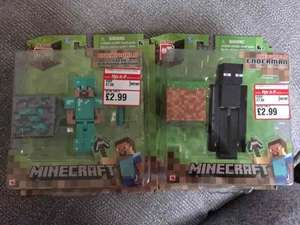minecraft figures reduced to £2.99 instore at This Is It, Exeter